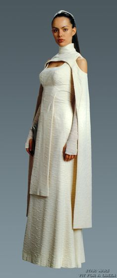 Sheltay Retrac is Bail Organa's assistent. She is wearing a dress who's concept was originally intended for Padme but was instead used for her. She is the mother of Princess Leia's friend Winter.