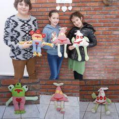 De kinderen van Kika's ateljee te Puurs met hun prachtige monsters