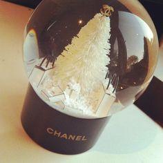 Ugh I need! Chanel snowglobe Xmas 2011