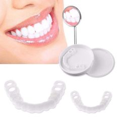 Dentiers Snap-On - Perri Angel - Dentures - Natural looking - Lingual Perfect Smile, Im Not Perfect, Perfect Teeth, Veneers Teeth, Dental Veneers, Lingual Braces, Teeth Braces, Smile Teeth, Stained Teeth