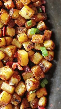Breakfast Potatoes... I make these all the time! They're even better with sliced smokies added in.