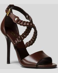 a79b1feea173 Michael Kors - Miriam Leather Sandal - Lyst sandals high heels outfit   SandalsHeels High Heels