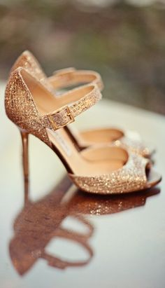 Rose Gold Bridal Shoes by Jimmy Choo