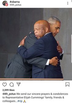 At the dedication of the African American Museum at the Smithsonian Sentor John Lewis and President Barack Obama. Michelle Obama, First Black President, Our President, Black Presidents, American Presidents, Joe Biden, Durham, John Lewis, Barack Obama Family