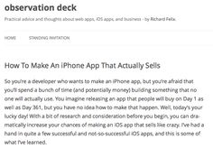 How To Make An iPhone App That Actually Sells
