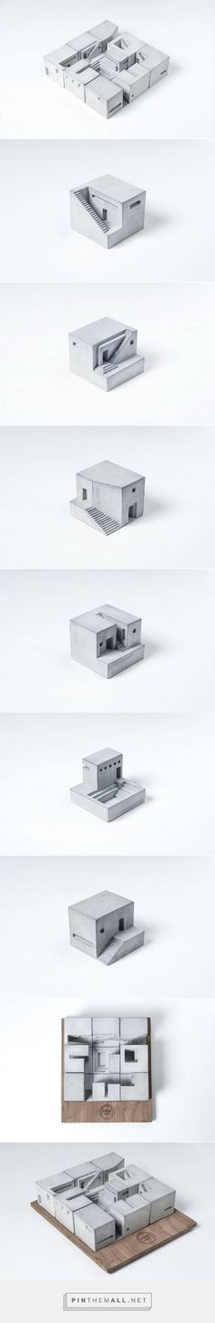 Miniature Concrete Buildings – Fubiz Media - created on Architecture Design, Architecture Drawings, Concept Architecture, Architecture Models, Beton Design, Concrete Design, Module Design, 3d Modelle, Arch Model