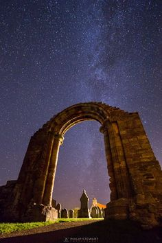 Archway to the Galaxy, Coldingham Priory, Scottish Borders, Scotland