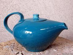 russel wright iroquois aqua teapot