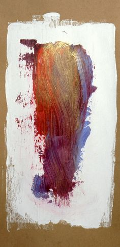 Abstract, #0616, mixed media, 12in. x 24in. Chipboard, © Hugh S. Myers 06.05.2016