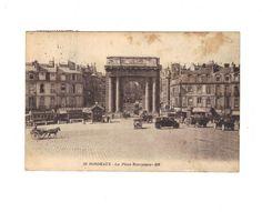 CPA TRES ANIMEE  - BORDEAUX (33) - LA PLACE BOURGOGNE -1927