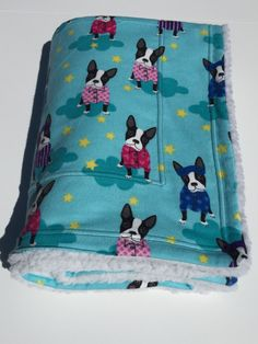 Boston Terrier Blanket, Dog Blanket, Dog Throw, Toddler Nap Blanket, Nursery Decor, Boston Puppies, Dogs in Pajamas, Boston Terrier Baby by ComfyPetPads on Etsy