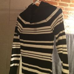 Black and white striped sweater dress Brand new with tag Black and white striped sweater dress! Dresses Long Sleeve