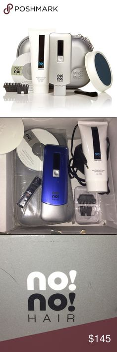 Hair removal NONO 8800 NEW blue No No hair removal BRAND NEW Blue no!no! 8800 device Wide thermicon tip Narrow thermicon tip Large buffer pad Cleaning brush Charger Travel case 2 oz no!no! Smooth After Treatment Cream Quick Guide User's Guide on CD Other