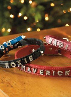 Your pet will stylishly stand out with their own Signature Leather Slider Dog Collar that boasts a sparkling personalized name detail.