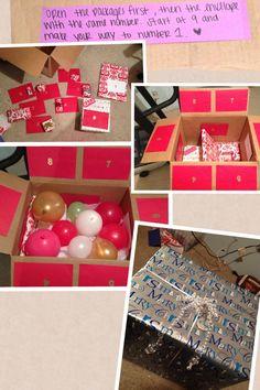 Ideas birthday surprise boyfriend balloon christmas gifts for 2019 Creative Christmas Gifts, Creative Gifts, Christmas Presents, Holiday Gifts, Christmas Diy, Christmas Boxes, Homemade Christmas, Best Friend Gifts, Gifts For Friends