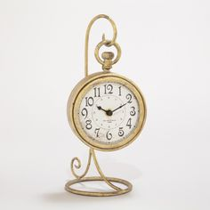 Gold Clock with Stand | World Market