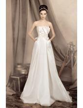 Empire Bodenlanges Schönes Hochzeitskleid 1328 Natalie