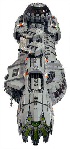 The Manticore lego moc Lego Spaceship, Spaceship Design, Star Trek, Lego Star Wars, Legos, Lego Cars, Mega Pokemon, Lego Ship, Amazing Lego Creations