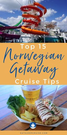 Do you have a cruise vacation planned on the Norwegian Getaway in the near future? Whether you are new to cruising or are an experienced cruiser and this is your first time to cruise on the Norwegian Getaway, you'll want to read this post for great travel tips and secrets. From how to get a spot on a private deck to Ice Bar discounts, and so much more. Check out our blog post for all the info on the cruise ship itself, rooms, the cabin, menus just to name a few. Cruise Checklist, Cruise Tips, Best Cruise, Cruise Vacation, Vacations, Noodle Bar, Cruise Reviews, Ice Bars, Norwegian Cruise Line
