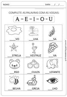 atividades de alfabetização e matemática Portuguese Lessons, Preschool Printables, Summer School, Learn To Read, Primary School, Homeschool, Writing, Arabic Alphabet, Alphabet Letters