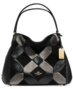 COACH EDIE SHOULDER BAG 31 IN PATCHWORK LEATHER - Coach Handbags - Handbags & Accessories - Macy's