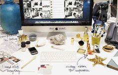 whats on Aerin Lauder's desk