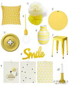 accesorios decoración amarillo : via MIBLOG