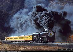 Net: UP 8444 Union Pacific vapor em Emory, Utah por James Belmont Union Pacific Train, Union Pacific Railroad, Old Steam Train, Railroad Pictures, Railroad History, Train Art, Train Pictures, Old Trains, Train Engines