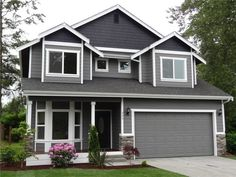 Exterior Paint Colors Grey love this! exterior house design with stone and gray.   for the