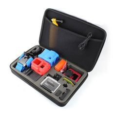 TELESIN-Action-Camera-Storage-Bag-Dual-Zippers-Design-Padded-case