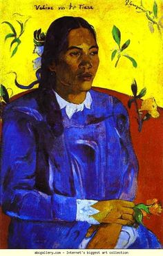 Paul Gauguin. Vahine no te tiare (Woman with a Flower). Olga's Gallery.