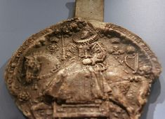 Wax impression of the Great Seal of Queen Elizabeth I