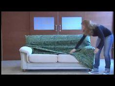 como montar la funda elastica para el sofa - YouTube