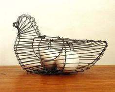 French Wire Egg Basket by embeehat on Etsy, $12.00