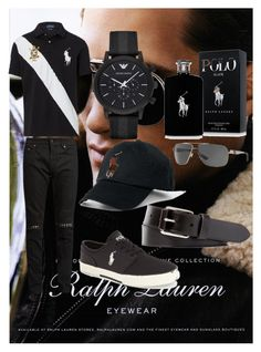 """Ralph Lauren No.1"" by mkfashionfactory on Polyvore featuring Ralph Lauren, Yves Saint Laurent, Emporio Armani, Polo Ralph Lauren, men's fashion and menswear"