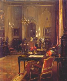 The Red Hat (Lady Lavery in Mayfair Drawing Room): Sir John Lavery