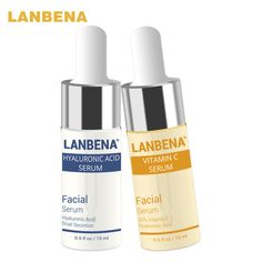 LANBENA Vitamin C Serum+Hyaluronic Acid Serum Anti-Aging Moisturizing Skin Care Firming Treatment Whitening Moisturizing