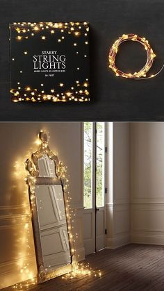 """""""Starry String Lights""""(for the studio) by BrightChoice Love these for outside decoration! Imagine a starry back porch. Christmas Lights Outside, Starry String Lights, Outside Decorations, Pinterest Home, Home Wedding, Fairy Lights, My Room, My Dream Home, Sweet Home"""