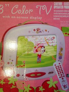 "Strawberry Shortcake 13"" Color TV.  New."