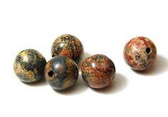 15x Round Jasper Beads 8mm by KolibriBeadSupplies on Etsy