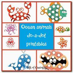 Ocean Animals Free Do a Dot Printables