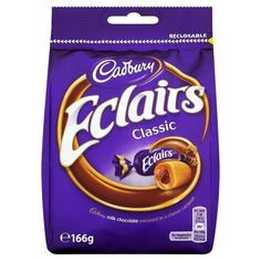 -in USA- Cadbury Eclairs Classic - Made in the UK -166g
