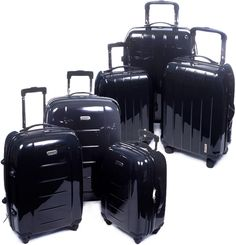 "$99.99 + FREE shipping! Cambridge 3-Piece Luggage Set with 28"", 24"", & 20"" Rolling Suitcases-Choice of Vertical or Horizontal Design!"