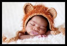 Ary the Lion Chic Baby Beanie  Newborn to 3 mos by chicbebeh, $36.99