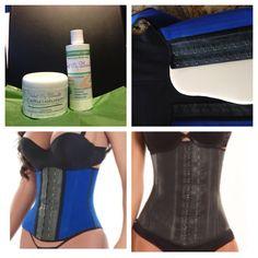Combo Includes:  Latex Waist Cincher  PMS Waist Cincher  Cellusolution  Slimming Cream  Compression Board    Value: $160.00