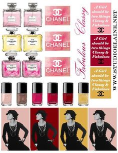 March - Coco Chanel Free Sticker Sheet