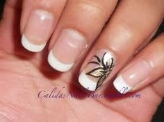 french nails with design