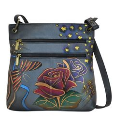 7a8a779c8c Handpainted Leather Medium Crossbody from Anna by Anuschka Painted Bags