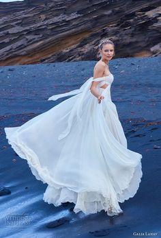 galia lahav gala 2018 bridal off the shoulder sweetheart neckline ruched bodice grecian elegant empire wedding dress chapel train (5) sdv -- Gala by Galia Lahav Collection No. 5 Wedding Dresses