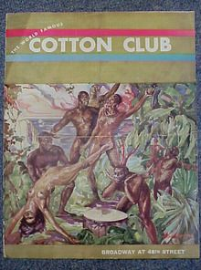 1930's cotton club Program featuring Bill Robinson & Cab Calloway includes supper menu and wine list